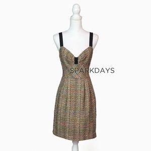 Trina Turk Boucle Multi-color Tweed Dress | 6